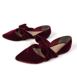 Seychelles Octave Velvet Bow Pointed Flats Shoes